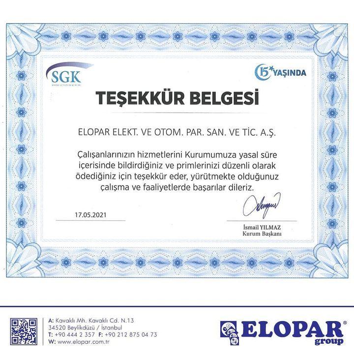 Elopar Elek. Otomotiv Parça San. Tic. Ltd. Şti.